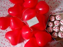 20 Heart Red balloons Air inflated