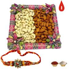 3 rakhis and kaju, badam 1 kg