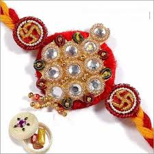 Rakhi with beads and om