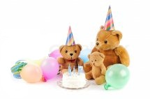 Two 6 inches One 12 inches Teddy bears with 1/2 Kg cake and 4 air filled Balloon